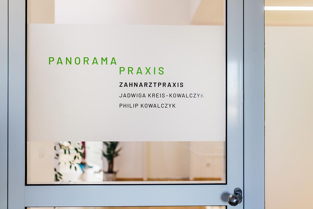 panorama praxis tür schild